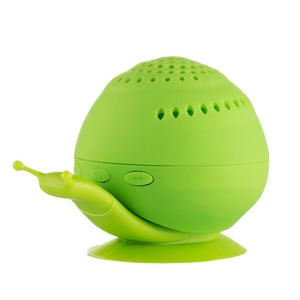 Mini Portable Bluetooth Wireless Speaker, DOITOP Creative Wireless Snail Bluetooth Speaker with Mini Cell Phone Holder Bluetooth Speaker Sound Box(Green)