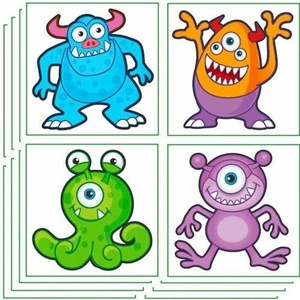 Monster Tattoos, 12 supplied by Party Bags 2 Go