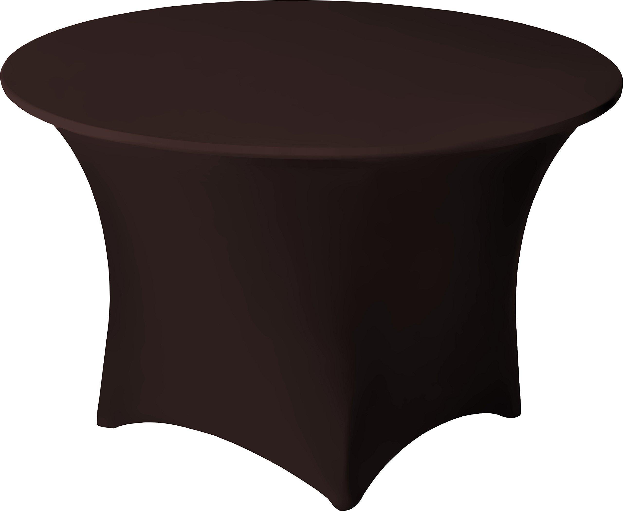 Snap Drape CC60RCHOC Contour Table Cover, Snug Fit, Reinforced Rubber Cup Attached To Leg, Flame Retardant, Machine Washable/Dryable, Fits 60