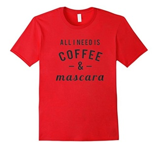 Men's Coffee And Mascara Shirt Large Red