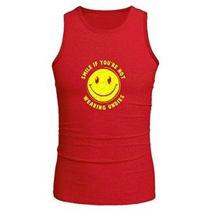 Smile For No Undies for Men Printed Tanks Tops Sleeveless T-shirt