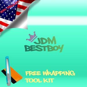 Free Tool Kit EZAUTOWRAP Gloss Teal Blue Car Vinyl Wrap Sticker Decal Sheet Air Release Technology - 12