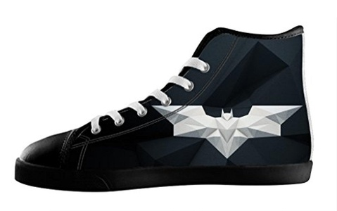 Batman Individualized Design High Top Sneakers Lace Up Canvas Custom For Men's Shoes-12M(US)