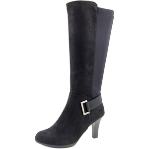 Kelly & Katie Motif Women Round Toe Synthetic Black Knee High Boot