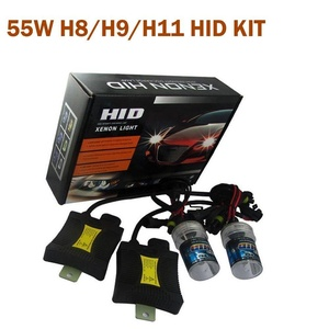 Spevert H8/H9/H11 12V 55W HID Xenon Conversion Kit Car Headlight Lamps Single Beam Bulbs with Slim Ballast 3000K(1 Pair)- 2 Year Warranty