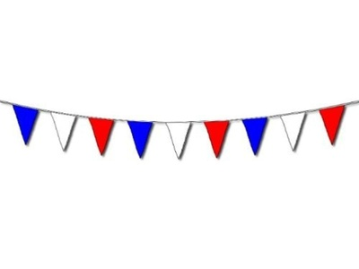 Party Decorations Bunting 10 Meters, 20 Flags - Red White and Blue by Creative