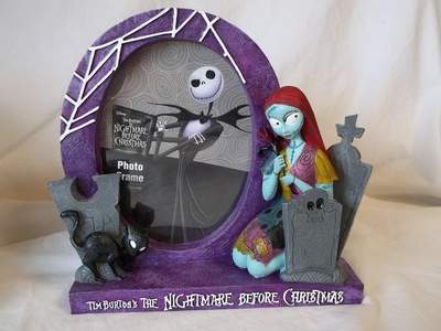 Disney's / Tim Burton's the Nightmare Before Christmas Sally resin photo picture frame