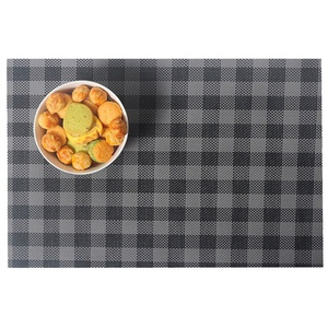 Lerela Washable Non-Slip PVC Placemat Coffee Dining Table Heat Insulation Mats Set Of 4