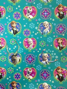 Disney Frozen Large Gift Wrapping Sheet & Large Matching Bow by Disney Frozen Party Supplies