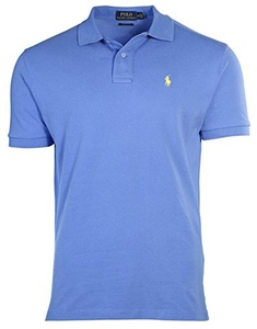Polo Ralph Lauren Custom Fit Mesh Polo Shirt for Men blue