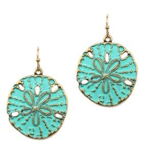 Lovely Mint Sand Dollar Earrings