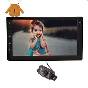 EinCar 7 inch Quad Core Double 2 Din Android 4.4.4 touch screen Car Stereo Autoradio In Dash GPS Navigation Headunit BT/WIFI/SW-Control/Rear Camera/ Mirror link Optional WITHOUT dvd Player