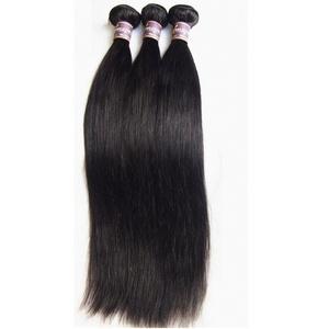 Amapro(TM)10~28 Inch 3 Bundles/Lot 100G/Bundle Natural Color Weft 100% Real Brazilian Virgin Human Hair Weaves Silky Straight Human Hair Extension (14 16 18)