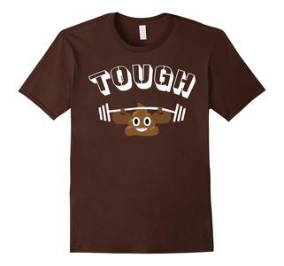 Men's Funny Poop Shirt Tough Poop Hilarious Poop Tee Medium Brown
