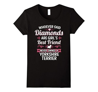 Women's Yorkshire Terrier Dog Best Friends Clothing Puppies T Shirt Small Black
