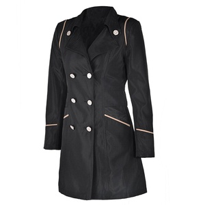 HGRA003 Women's Outerwear Trench Coat Long Slim New Plus Size (XL)
