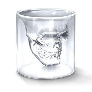 2016 New Creative Designer Skull Head Shot Glass Fun Doomed Transparent Party Doom Drinkware Gift for Halloween 4 sizes (150ml)