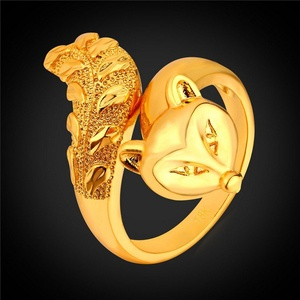 delatcha Jewelry Fox Ring Platinum/ Gold Plated Ring /Men Fashion New Animal Fox R1645