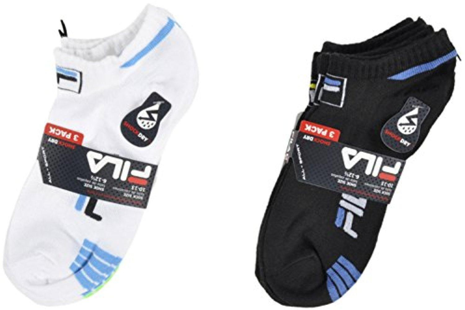 fila ankle socks. fila all-sport large ankle socks shock dry 3-pack in white low-cost