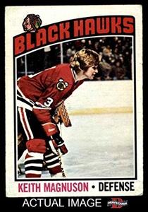 1976 O-Pee-Chee NHL # 125 Keith Magnuson Chicago Blackhawks (Hockey Card) Dean's Cards 4 - VG/EX