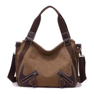 Gillberry Women Fashion Handbag Canvas Shoulder Bag Large Tote Ladies Purse (Coffee)
