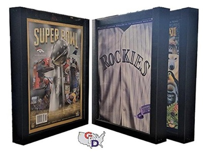 Lot of 3 Sports Program Display Frames by GameDay Display