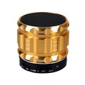 ANRANK BS64790AK Portable Mini Super Bass Stereo Bluetooth Speakers Metal Steel Wireless Audio Player With Mic FM Radio Support TF Card for iPhone Samsung Smartphone PC Tablet (Gold)
