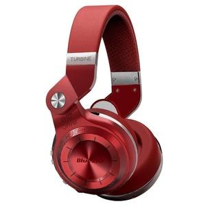 Bluedio T2 Plus Headset Turbine Wireless 4.1 Bluetooth Over-ear Turbine 195° Rotary Foldable Headphones with Mic/Micro SD Card Slot/FM Radio (Red)
