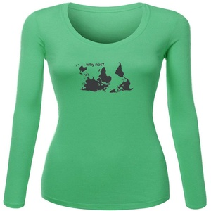 Why Not for Women Printed Long Sleeve Cotton T-shirt