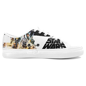 Aneozap Custom Star Wars Women's Nonslip Canvas Shoes Fashion Sneakers,White