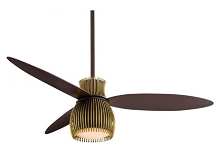 Oil Rubbed Bronze And Toned Brass 56In. Fan With Light Kit And Wall Control Included