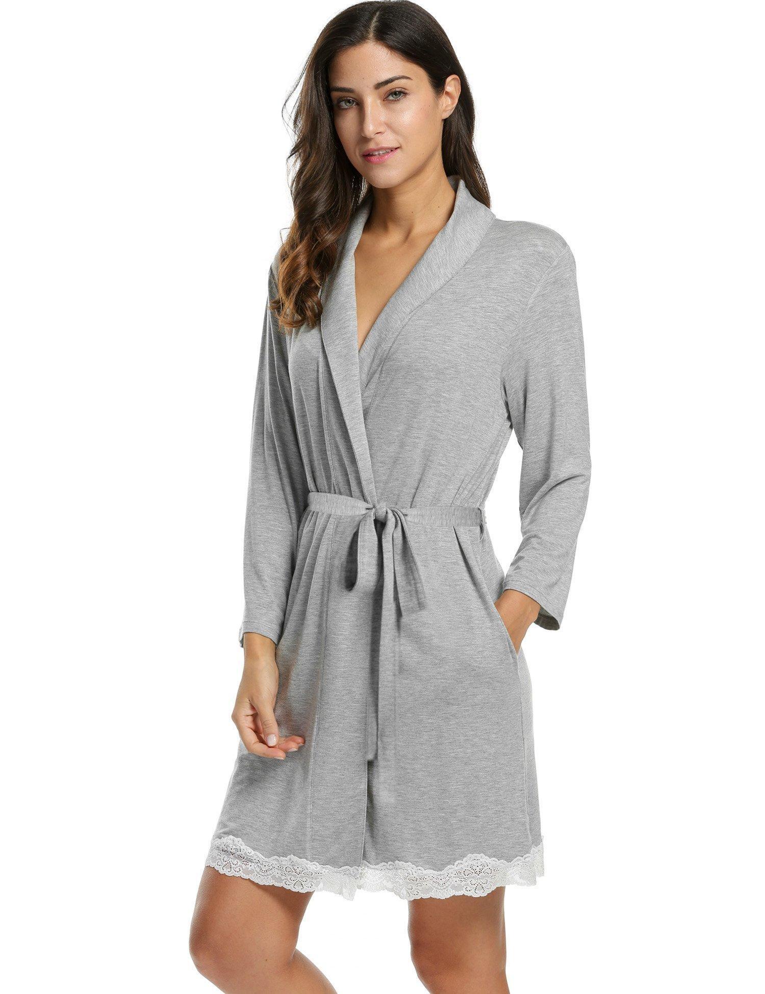 online store avidlove womens bathrobe soft kimono cotton. Black Bedroom Furniture Sets. Home Design Ideas