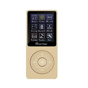 Mp3 Player 8GB & 100 Hours Playback MP3 Sport FM Radio Lossless Sound Music MP3 Player, MP4 Player (Supports up to 64GB) (Gold)