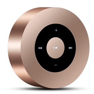 Mini Bluetooth Speaker Keling A8 Portable Screen Design Wireless Classic Metal Circular Subwoofer Speakers Support TF Card for iPhone 6 Plus 5 4S ipad 4 IPAD Android Phone-Gold