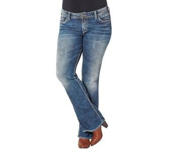 Silver Jeans Plus Size Suki Mid Rise Bootcut Jean, Indigo, 14x31