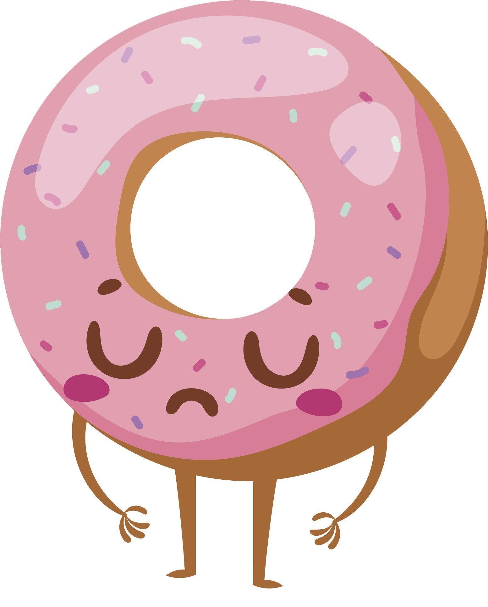 Online Store Sad Pretty Pink Strawberry Sprinkle Donut