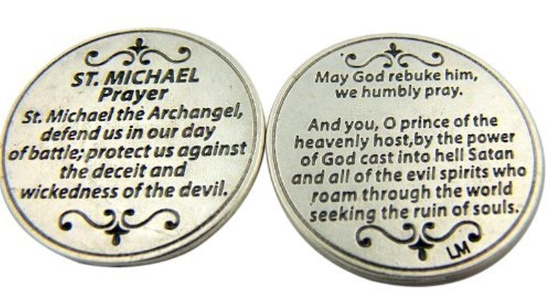 Religious Gift Saint St Michael the Archangel Prayer Protect Us Pocket Token by Religious Gifts
