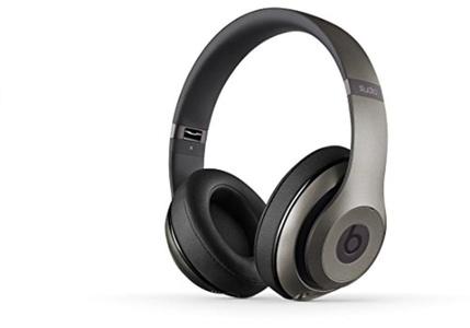 Sports Stereo Noise Isolating Studio 2.0 Wired Over-Ear Headphones Titanium