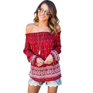 Blouse,NOMENI Women Blouse Off Shoulder Loose Casual T Shirt Tops (XL)