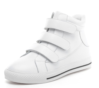 D2C Beauty Women's Fashion Velcro Strap High Top Casual Sport Sneakers - White 8 M US