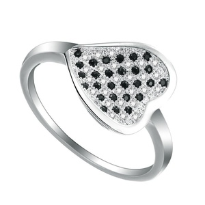 Women's Jewelry Crystal CZ Zircon Heart Band Finger Ring Party Engagement Jewelry US 7.8.9