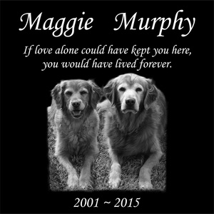 Personalised Pet Stone Memorial Marker Granite Marker Dog Cat Horse Bird Human 12