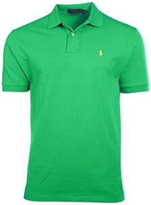 Polo Ralph Lauren Custom Fit Mesh Polo Shirt for Men healthy green M