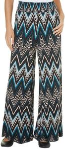 French Laundry Womens Multi Chevron Print Pants Large Blue/multi