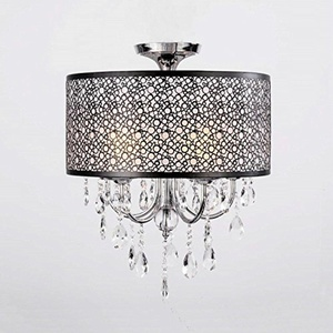 LH@ Max 60W Modern/Contemporary / Drum Crystal / Mini Style Chrome Chandeliers Living Room / Bedroom / Dining Room / Study Room/Office