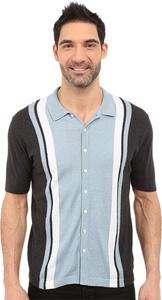 Agave Denim Men's Elwha Retro Short Sleeve Button Up Anthracite Button-up Shirt MD