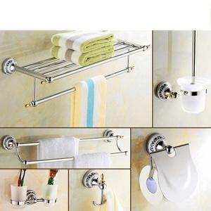 porcelain blue and white porcelain/Bathroom European style Towel rack/Stainless steel Towel rack/Bathroom Bathroom accessories set-N
