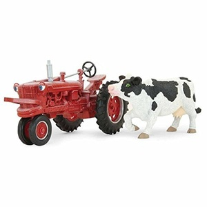 Ertl 1/16th Tractor Mac Farmall with Margot the Cow 2 Piece Action Figure Playset by TOMY International (ERTL)