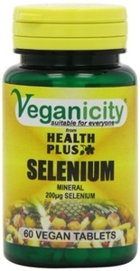Veganicity Selenium 200g : Antioxidant mineral : 60 tablets by Veganicity from Health Plus