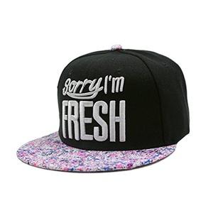 Men Women Hat - TOOGOO(R)Men Women Baseball Hip Hop Cap Adjustable Fresh Snapback Embroidered Trucker Hat Black